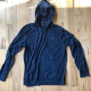 Men's AE L/S hooded shirt size XL